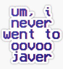 oovoo javer - vine quote Sticker