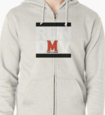 RUN DMV - Red Zipped Hoodie