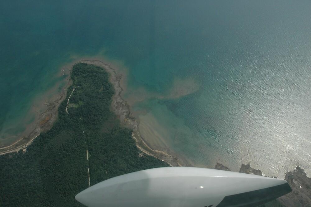 flight over lake michigan by cynthia  brown