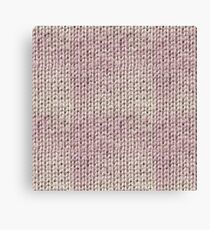 Knitted Wool pink light Canvas Print