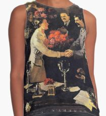 A political poster, the Soviet Union, Stalin, the leadership of the Soviet Union, the people, applause Contrast Tank
