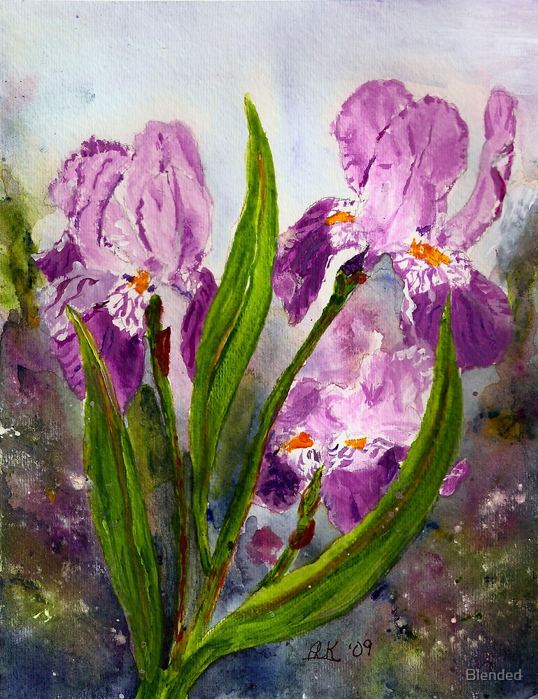 Blended Irises by Blended