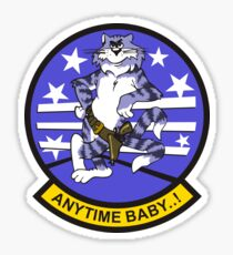 F-14 Tomcat 'Anytime Baby..!' Sticker