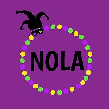 NOLA Mardi Gras Beads by mmacloud