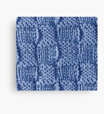 Knitted Wool square blue Canvas Print