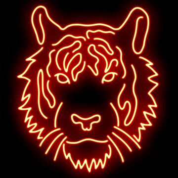 Neon Tiger by AllTheseShirts