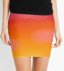 colorful sunset sky design Mini Skirt