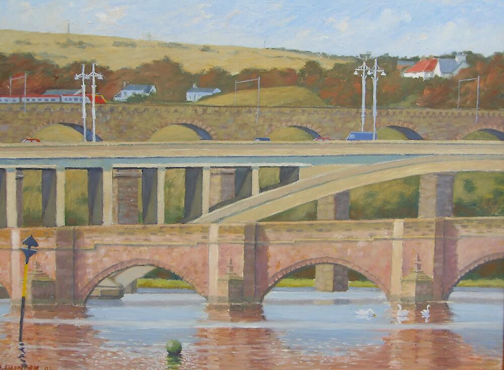 Berwick Bridges by stragglydan