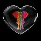 Crystal Heart Rainbow Ganesha by Diego-t
