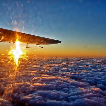 Trislander Sunset by NeilAlderney