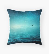 the sea and the universe Throw Pillow