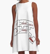I think you're my missing piece - white A-Line Dress