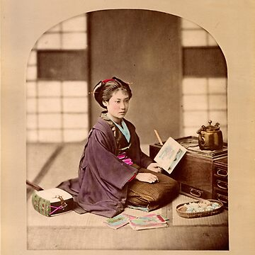 Japanese girl reading by Fletchsan
