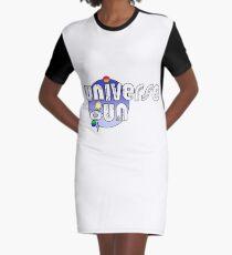 Universe Gun New Logo - Blue Graphic T-Shirt Dress