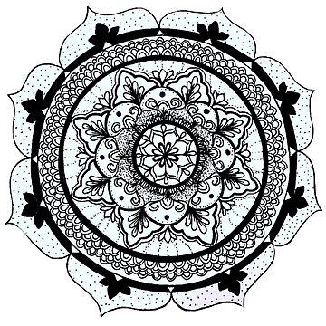 Hand Drawn Mandala by CraftyRedFox