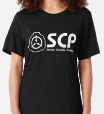 SCP foundation logo Slim Fit T-Shirt