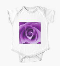 Purple Rose One Piece - Short Sleeve