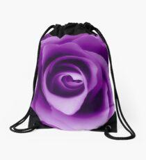 Purple Rose Drawstring Bag