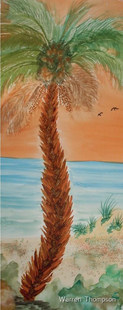 Sunset Palm by Warren  Thompson