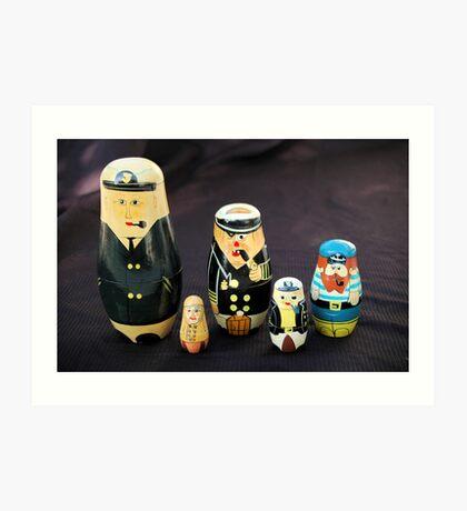 Nesting Sailors Art Print