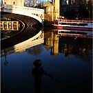 So Blue - So Still  - The River Ouse - Lendal Bridge - York by Diane Thornton