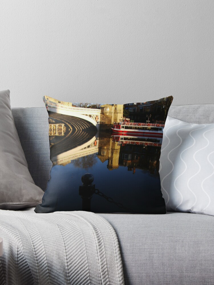 So Blue - So Still  - The River Ouse - Lendal Bridge - York by Diane Thornton