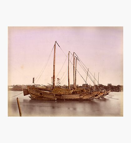 Japanese junk boat Photographic Print