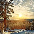 Winter Sunset IN New England by csegalas