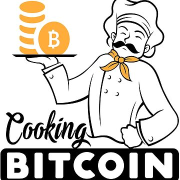 Cooking Betcoin T-shirt, Currency T-shirt, cuisine cryptocurrency. by samlozano