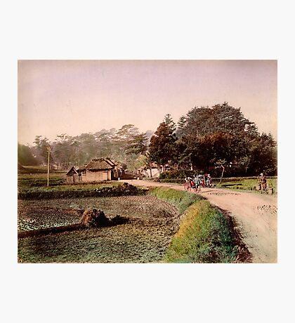 View of Totsuka, Tokaido, Japan Photographic Print