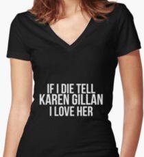 Tell Karen Gillan #2 Women's Fitted V-Neck T-Shirt