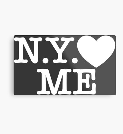 New York Love Me Metal Print