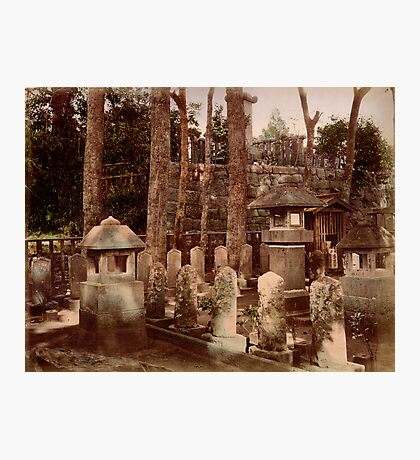 Samurai graveyard, 1890s Photographic Print