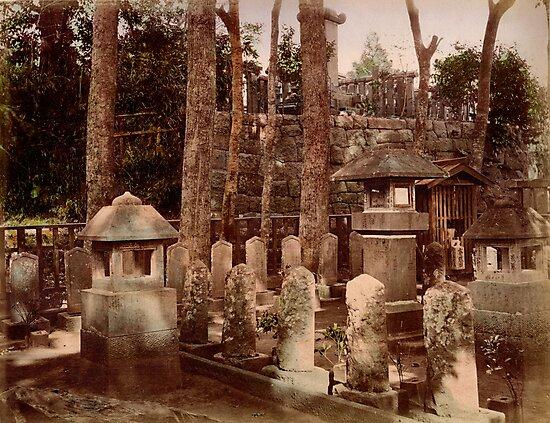 Samurai graveyard, 1890s by Fletchsan