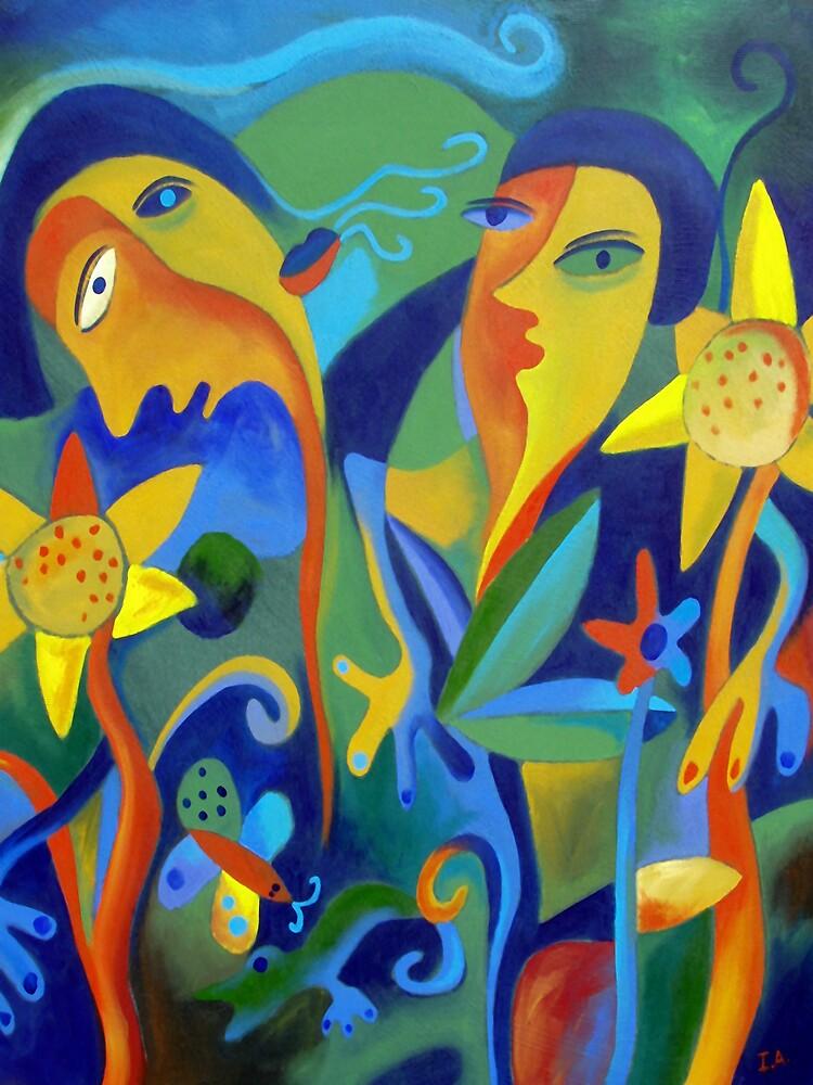 In the sunflowers by INGRID  ANDERSEN