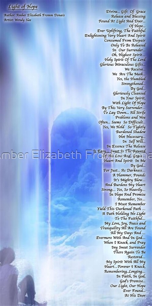 The Light At Hope's Door  by Amber Elizabeth Fromm Donais