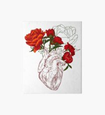 drawing Human heart with flowers Art Board