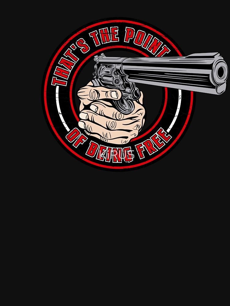 2nd Amendment Shirt - Black t Shirt - Gun Shirt Women Men by KiRUS