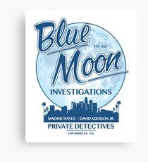 Moonlighting -  Blue Moon Investigations Canvas Print