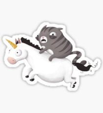 Cat and Unicorn Sticker