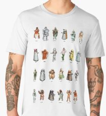 Doctor Who - 1975 Weetabix Promotion Characters Men's Premium T-Shirt