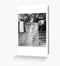 Steel Tank in the Woods Greeting Card