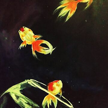 GOLD FISH IN THE SPACE by Thanada