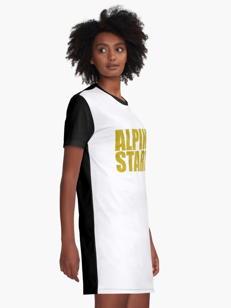 Alternative Ansicht von Alpenstart (Topo) T-Shirt Kleid