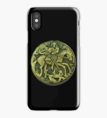 SAINT GEORGE AND DRAGON MEDIEVAL BRONZE MEDALLION iPhone Case/Skin