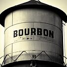 Boubon Whiskey Water Tower - Square BW Pub Art by Gregory Ballos