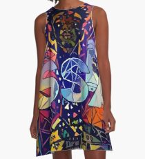 Abstract ISSA A-Line Dress