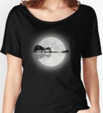 Moonlight Nature Guitar Women's Relaxed Fit T-Shirt