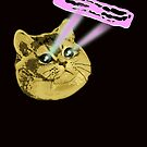 Fat Cat Shooting Eye Lasers for Delicious Bacon by electrovista
