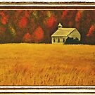 """Mountain Autumn""... with a framed Presentation for prints and products by Bob Hall©"